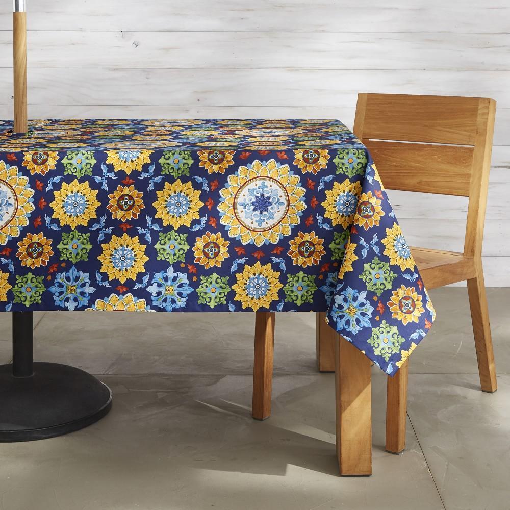 Sicilian Mosaic Oilcloth Tablecloth, 178 cm X 274 cm