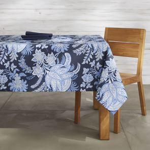 Sumatran Floral Oilcloth Outdoor Tablecloth, 178 cm X 274 cm