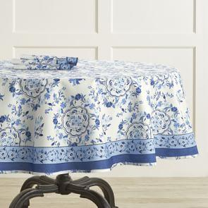 AERIN Seville Round Tablecloth, 178 cm