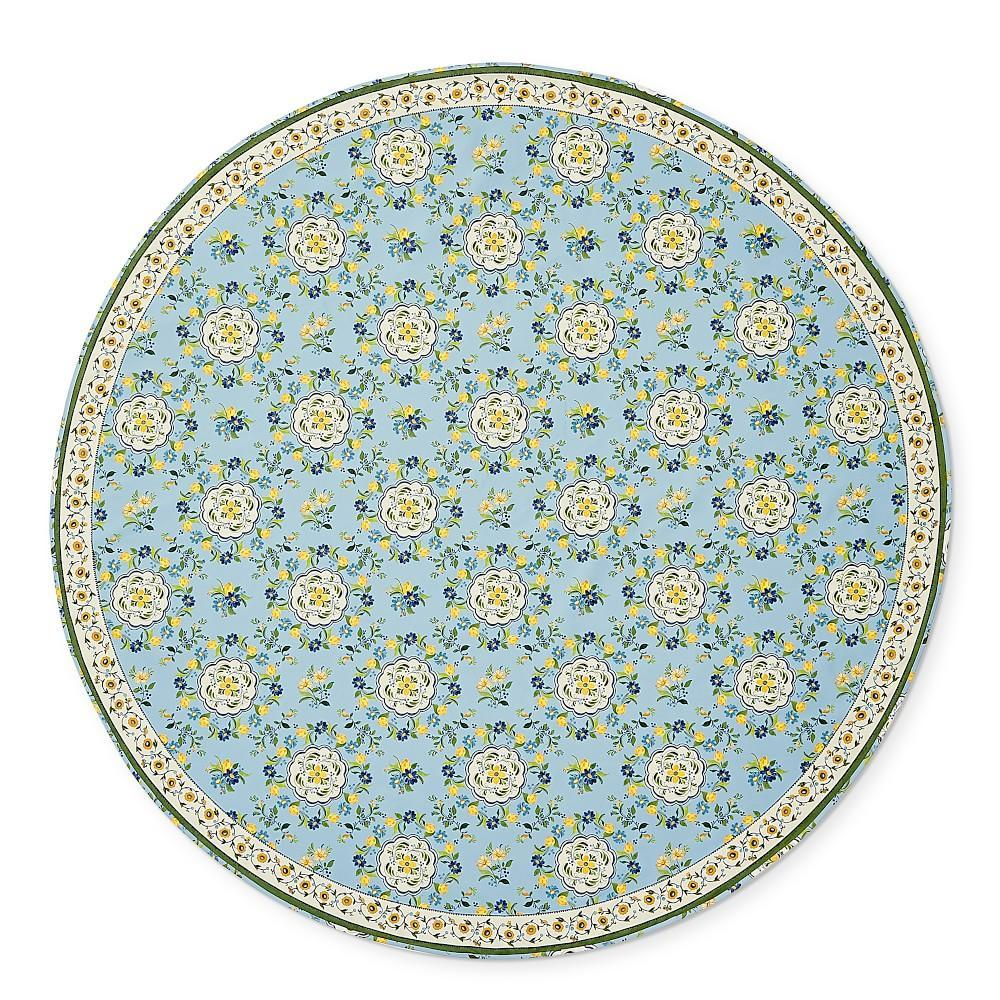 AERIN Seville Oilcoth Round Tablecloth, 178 cm