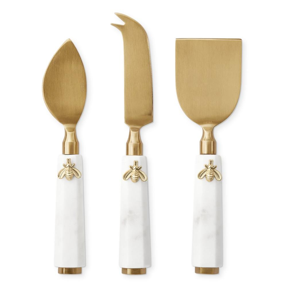 Honeycomb Cheese Knives, Set of 3