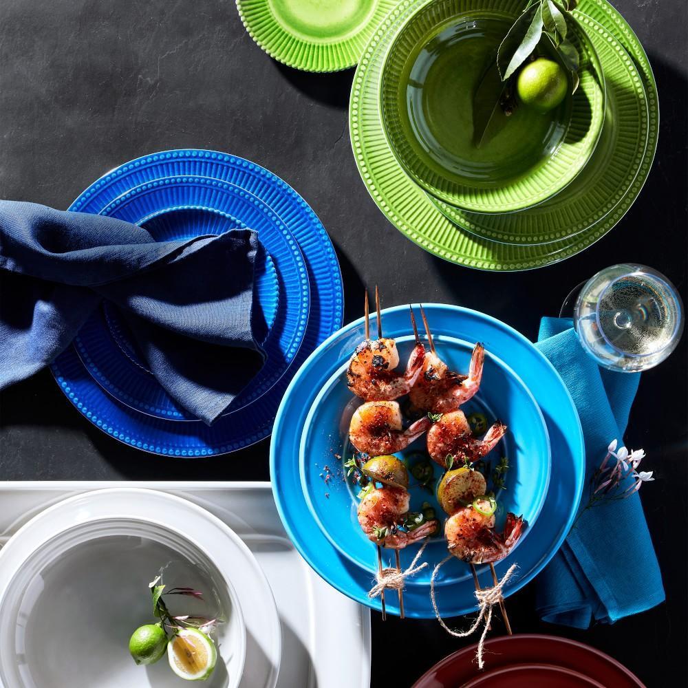 Pleated Outdoor Melamine Bowl