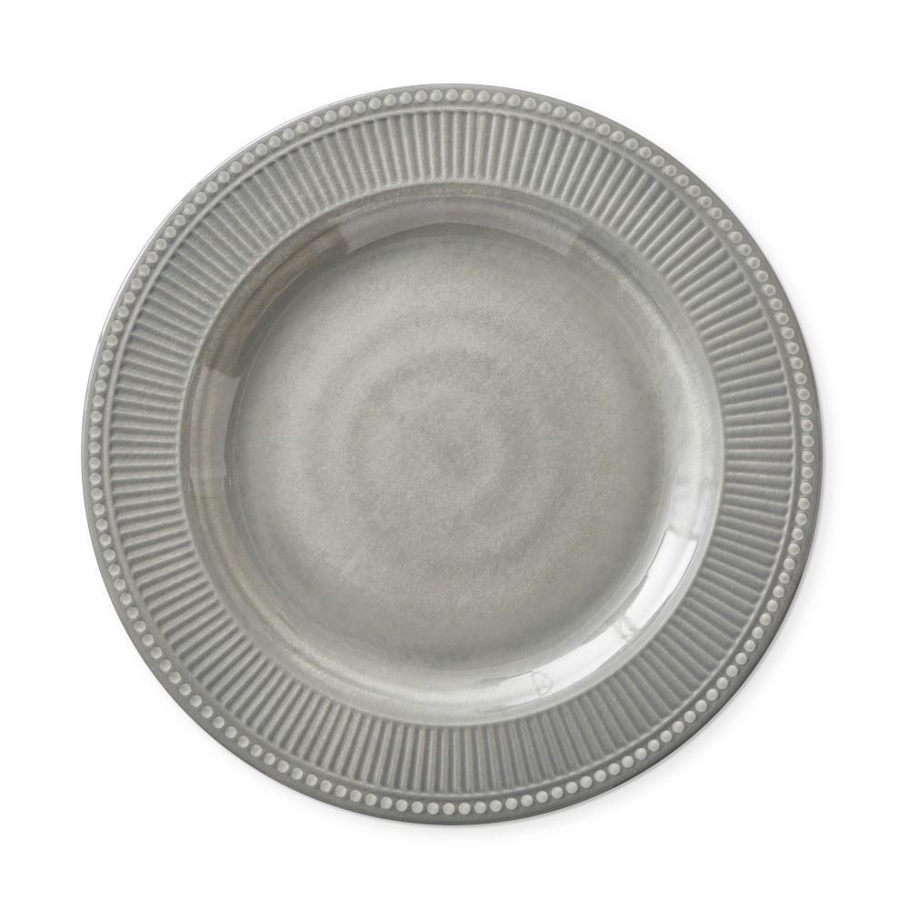 Pleated Outdoor Melamine Dinner Plate