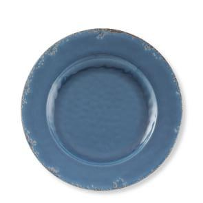 Rustic Outdoor Melamine Dinner Plate, Azure Blue