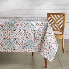 Iznik Oilcloth Outdoor Tablecloth