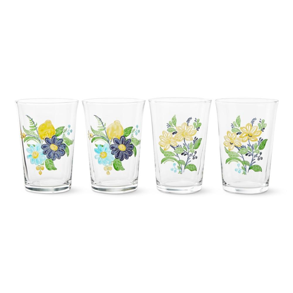 AERIN Panto Floral Tumblers, Set of 4
