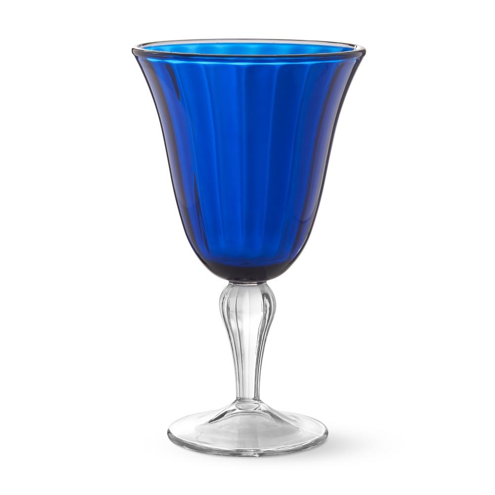 AERIN Blue Outdoor Goblet Set of
