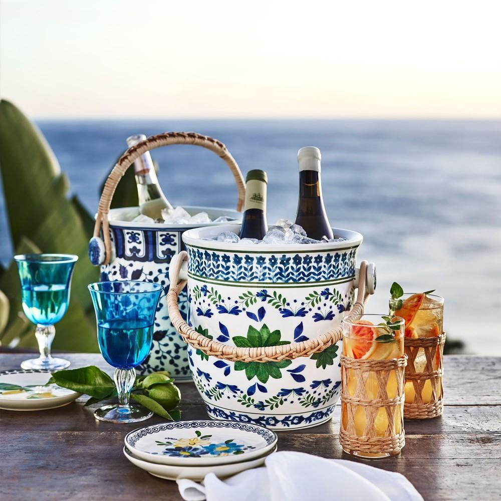 AERIN Coloured Goblet, Turquoise