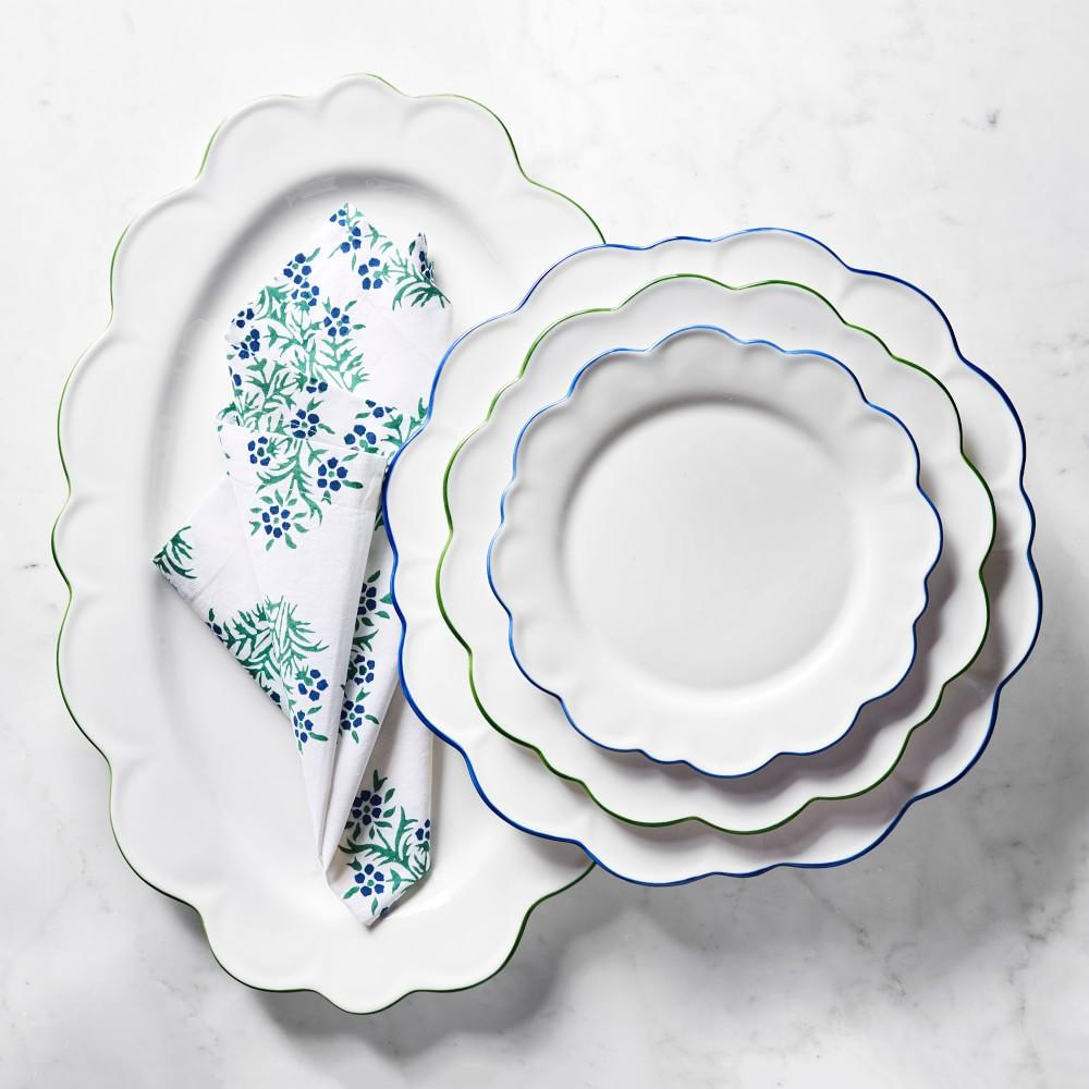 AERIN Scalloped Salad Plate