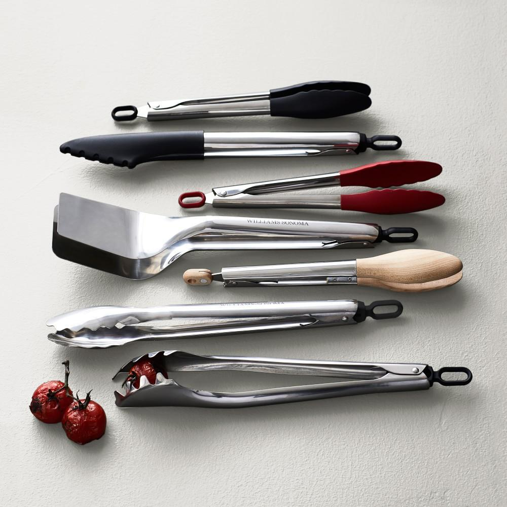 Williams Sonoma Stainless-Steel Silicone Tongs
