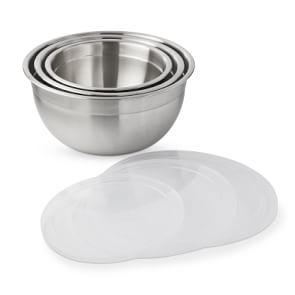 Williams Sonoma Stainless Steel Mixing Bowls With Lid, Set Of 3