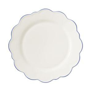 AERIN Scalloped Rim Dinner Plate, Blue