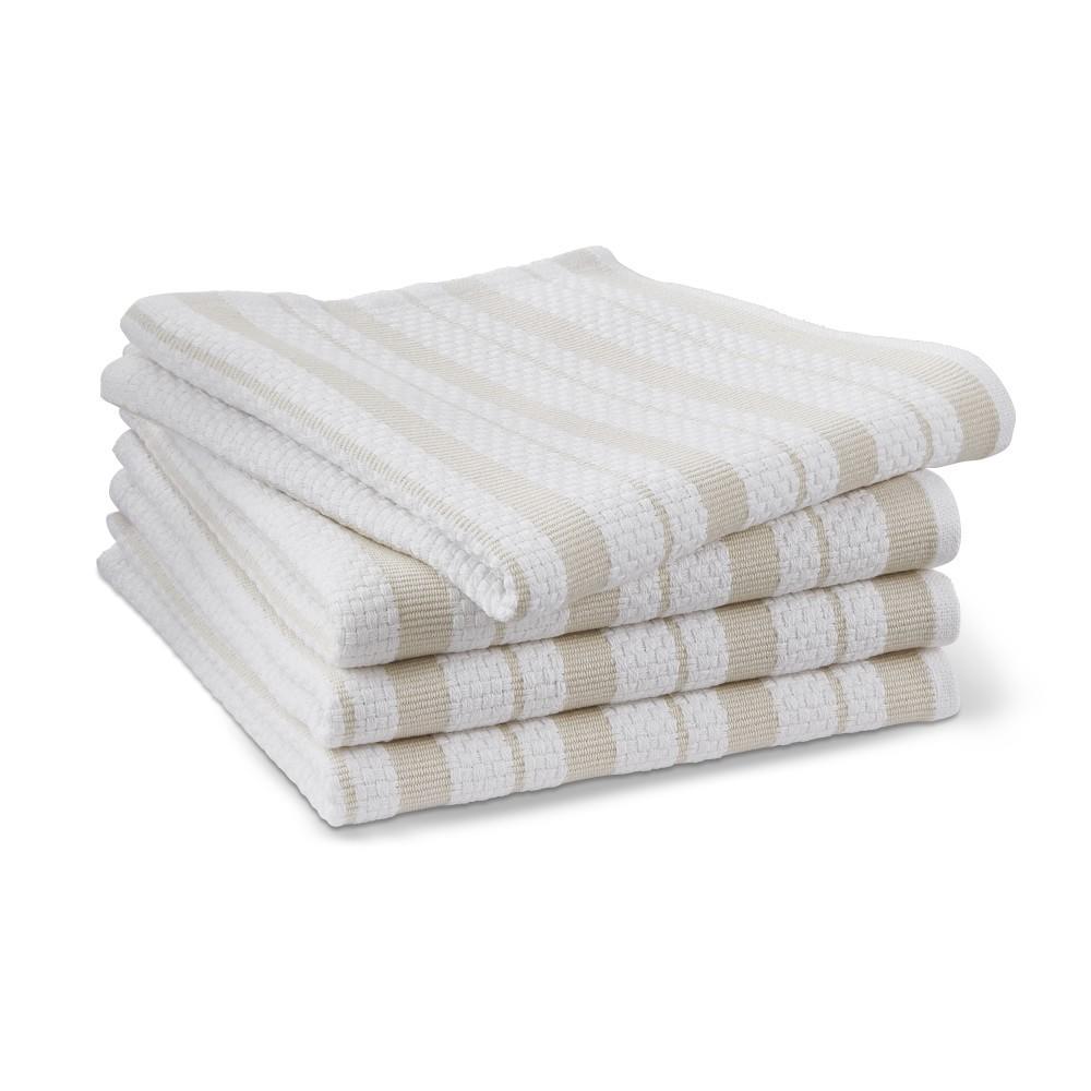 Williams Sonoma Classic Striped Dishcloths, Oatmeal Tan