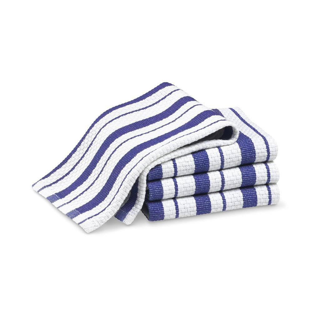 Williams Sonoma Classic Striped Dishcloths, Set of 4, Bright Blue