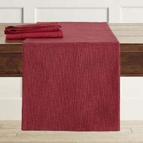 Burgundy Boucle Table Runner