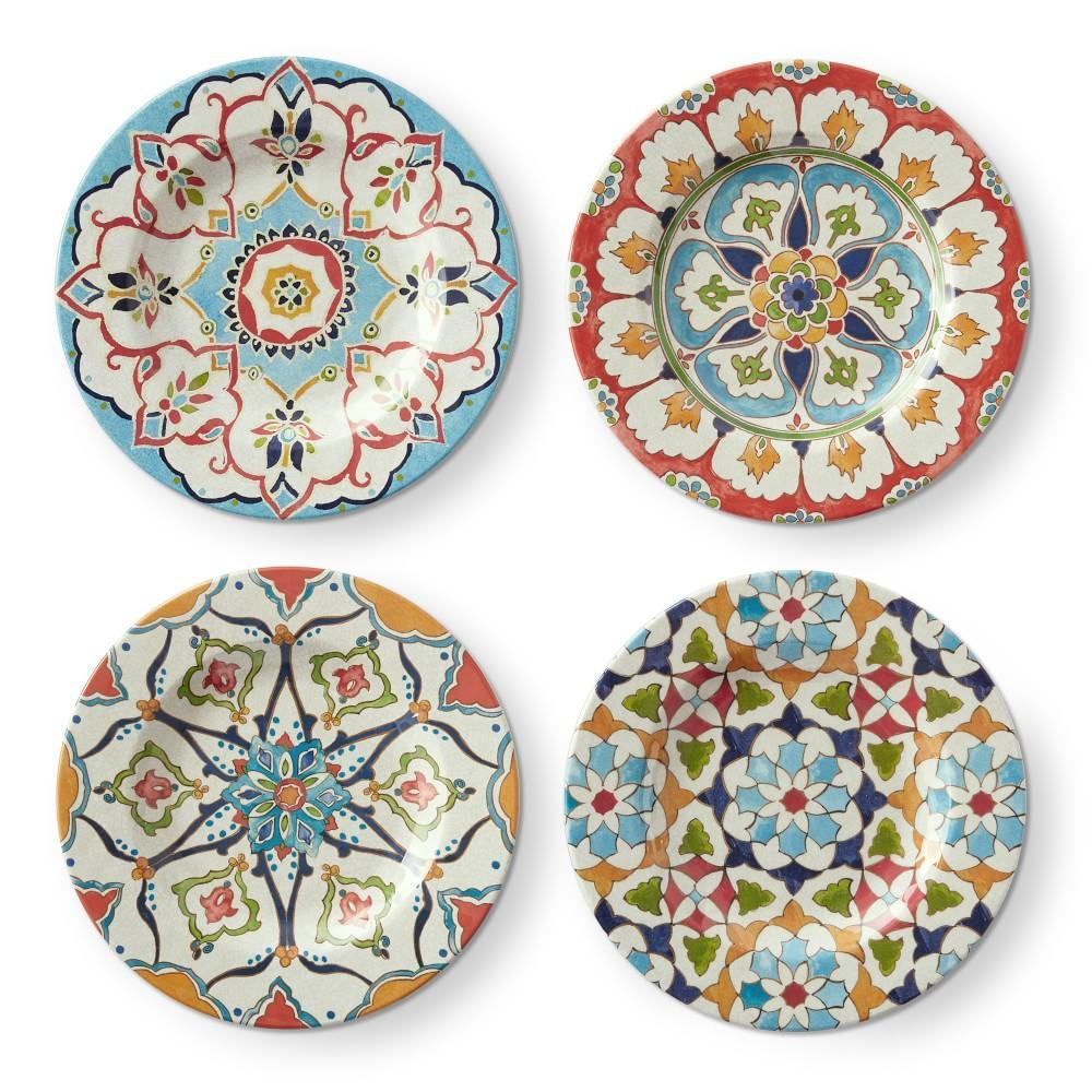 Iznik Outdoor Melamine Mixed Salad Plates