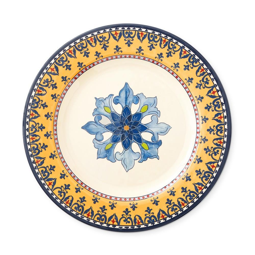 Sicily Melamine Dinner Plate, Blue