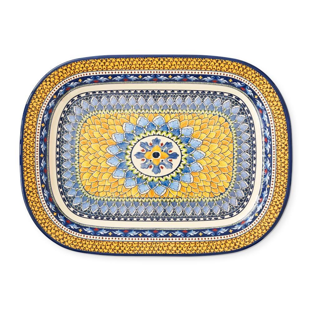 Sicily Melamine Large Rectangular Platter