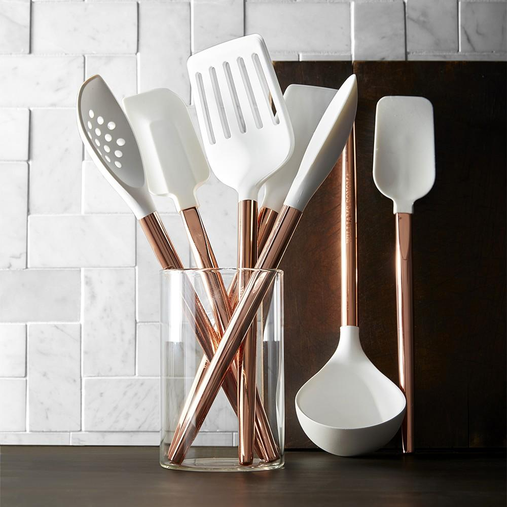 Silicone Spoon with Copper Handle