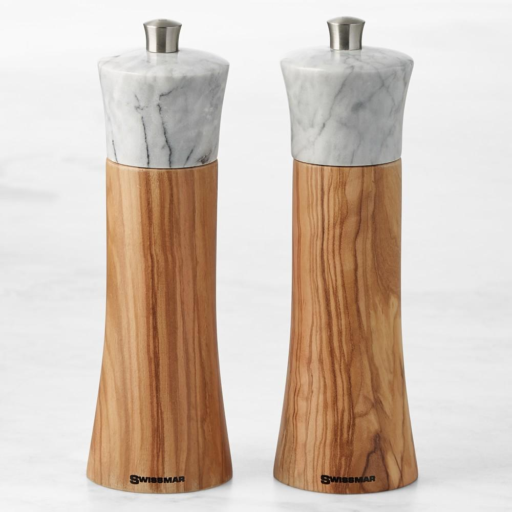 Swissmar Olivewood & Marble Salt & Pepper Mill