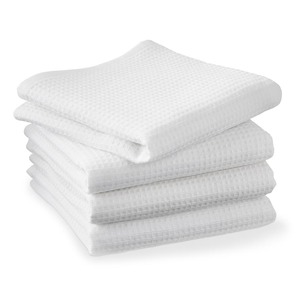 Williams Sonoma Super Absorbent Waffle Weave Tea Towels, Set of 4, White