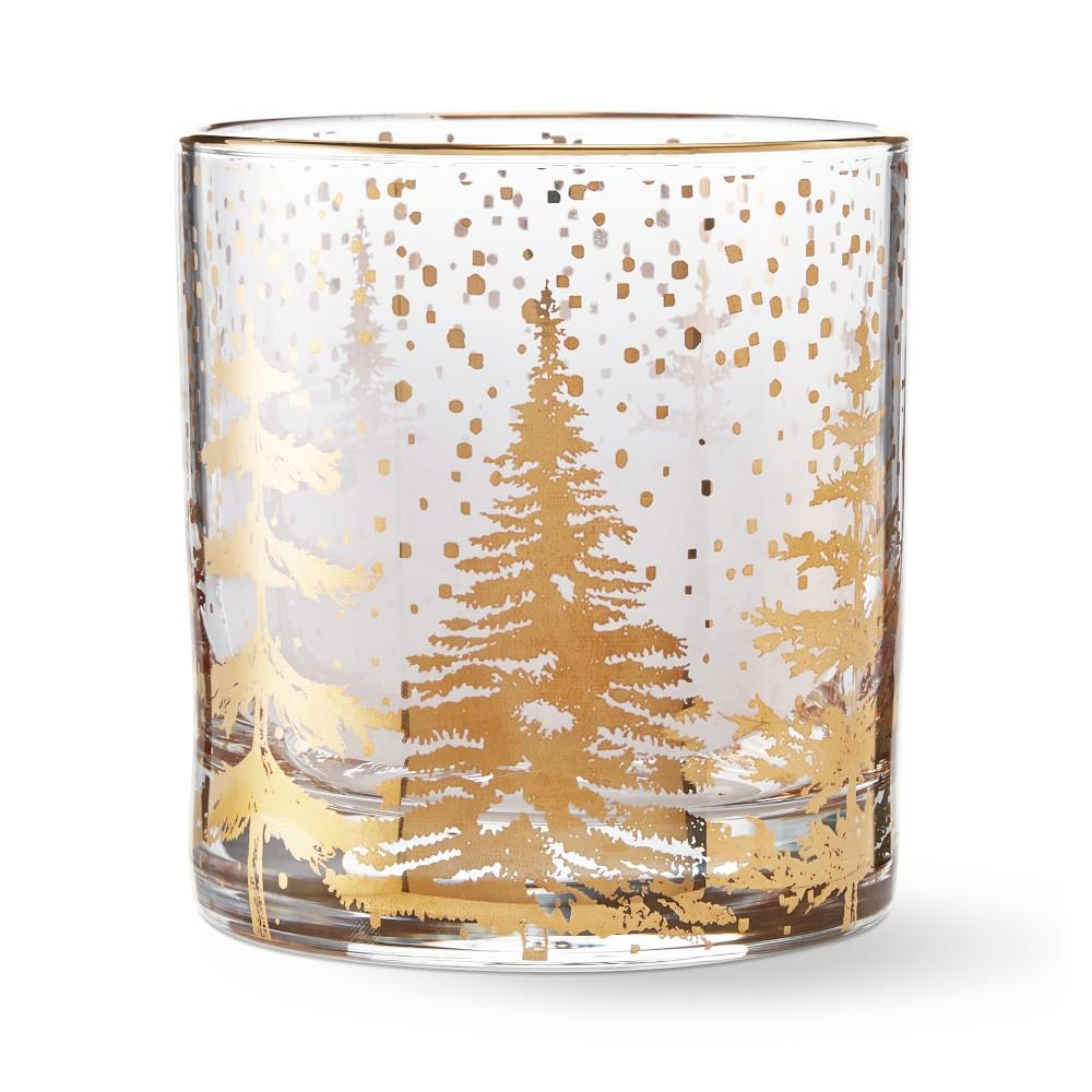 Gold Double Old-Fashioned Glasses, Forest