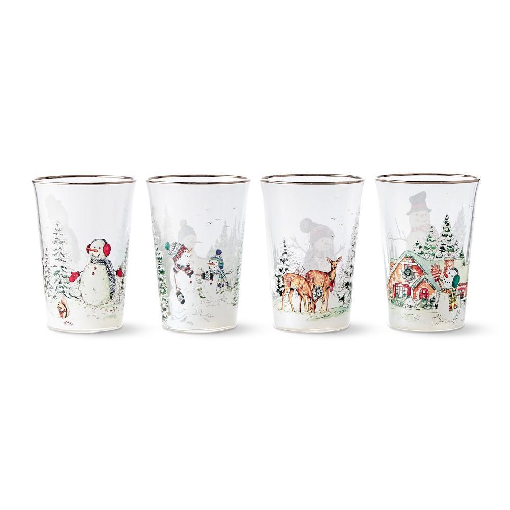 Snowman Tumbler Mixed, Set of 4