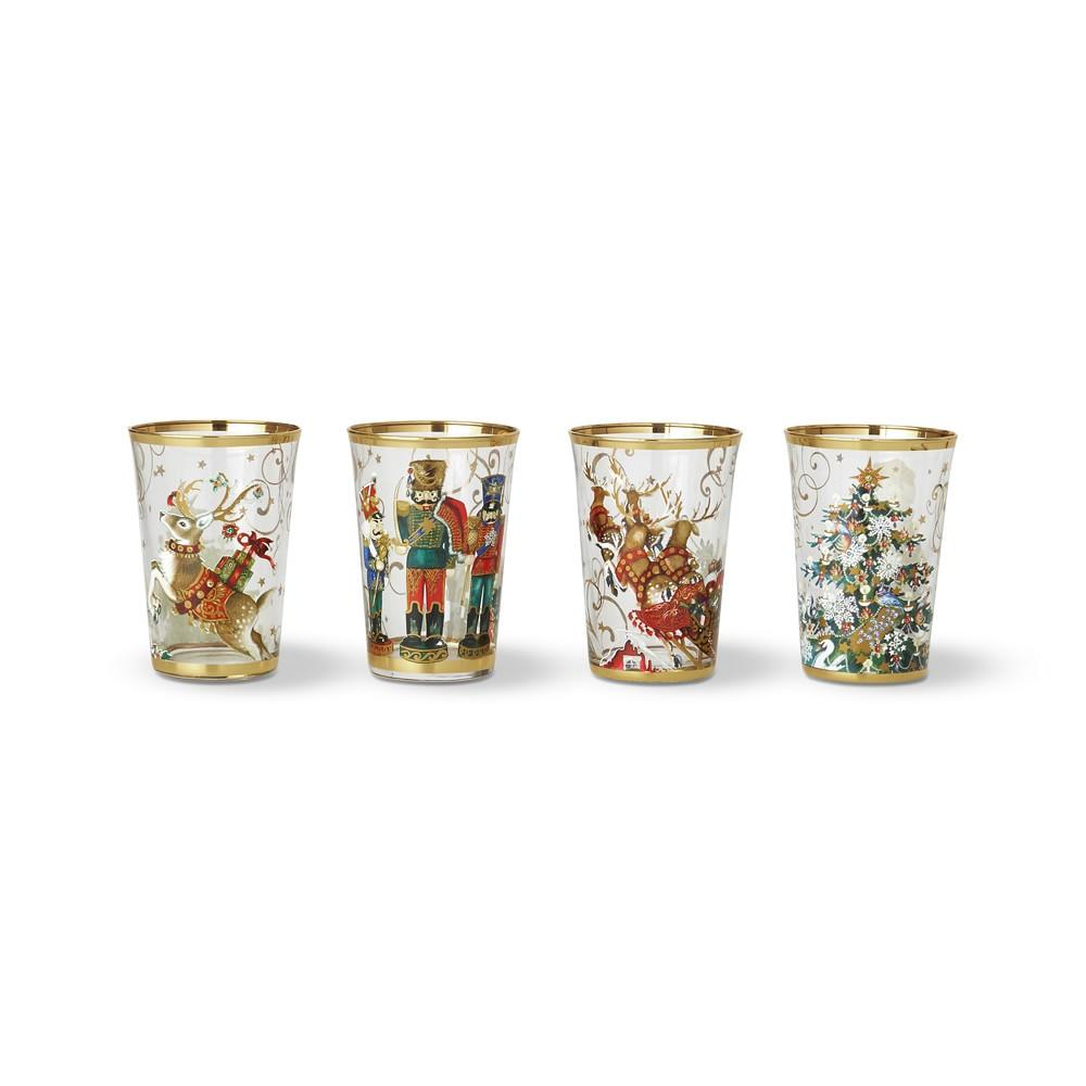 Twas the Night Before Christmas Mixed Tumblers, Set of 4