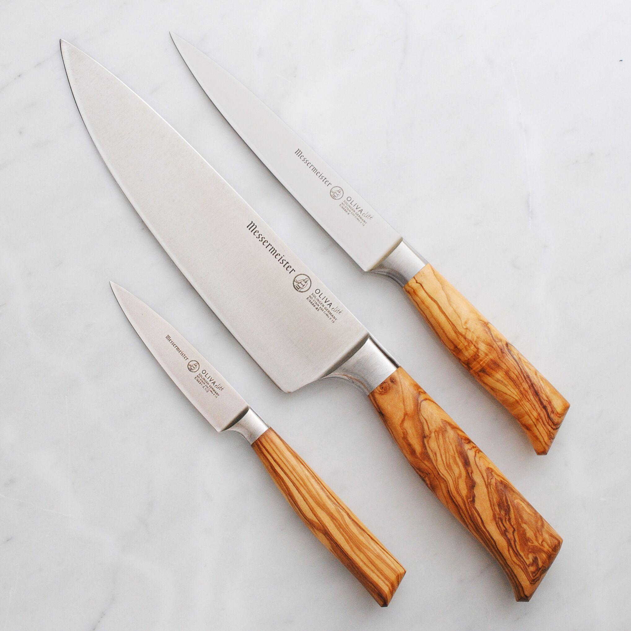 Messermeister Oliva Elite 3-Piece Starter Knife Set