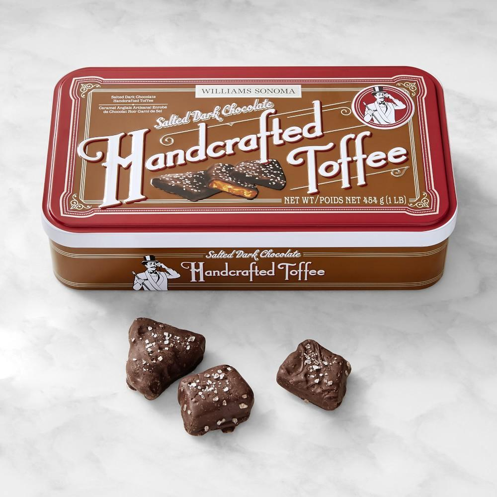 Dark Chocolate Handcrafted Toffee with Sea Salt