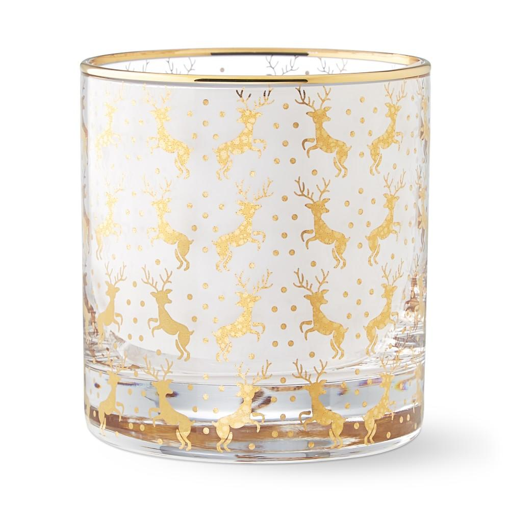 Gold Double Old-Fashioned Glass, Stag