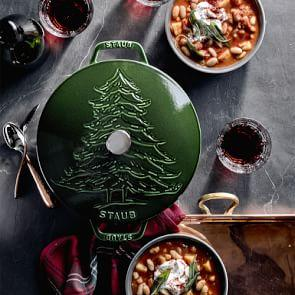 Staub Cast Iron Essential French Oven, Pine Tree Design