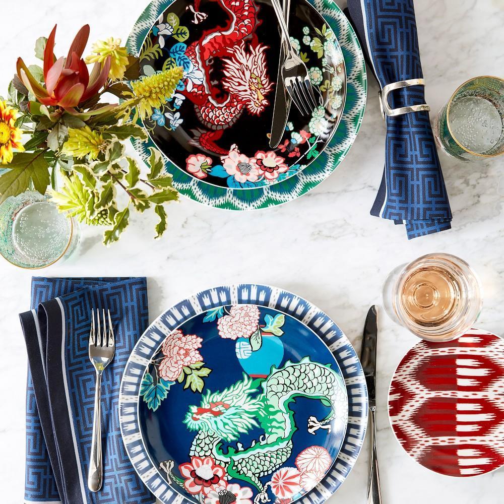 Schumacher Bukhara Ikat Dinner Plate