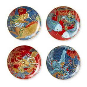 Lunar New Year Appetiser Plates, Set of 4