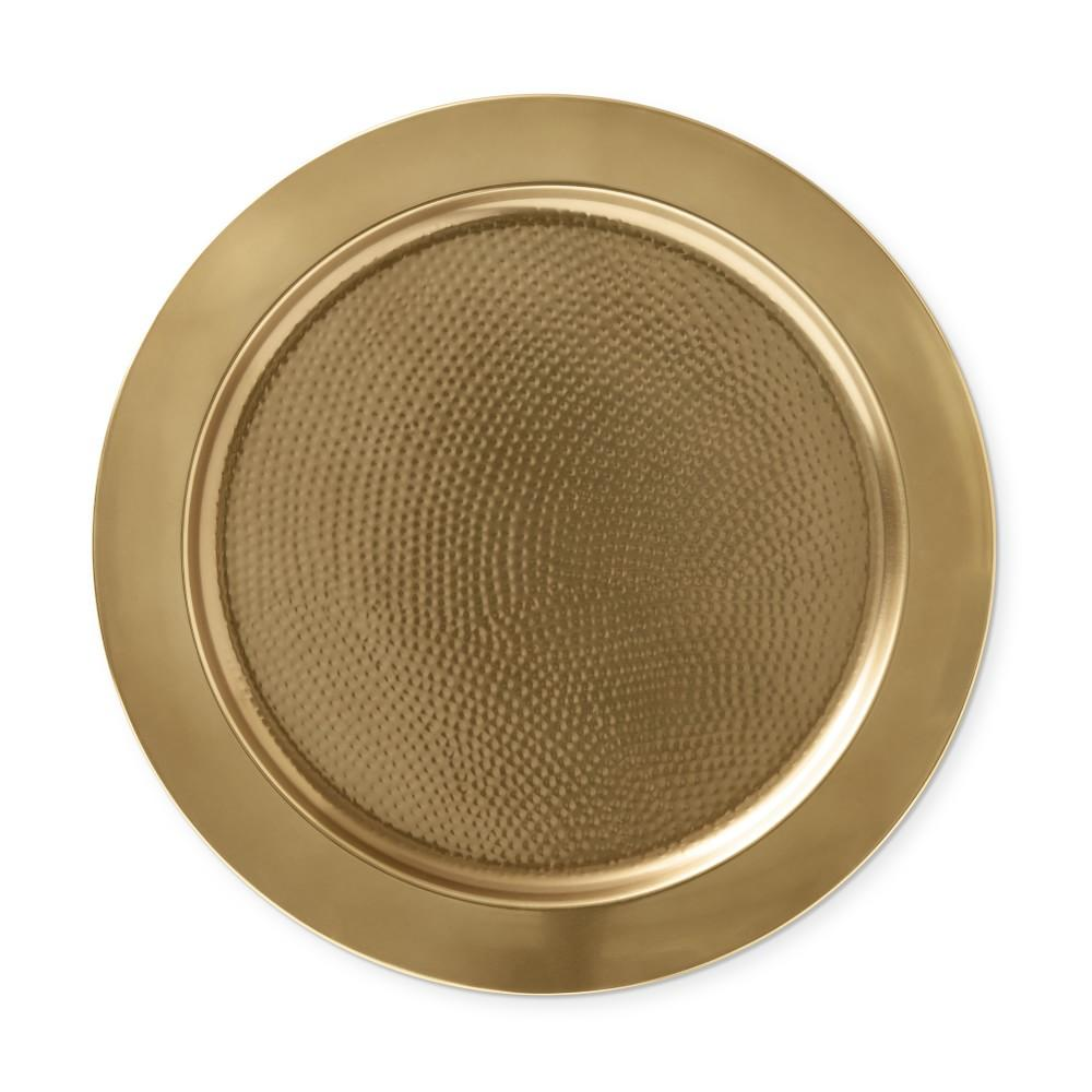 Antique Brass Charger Plate