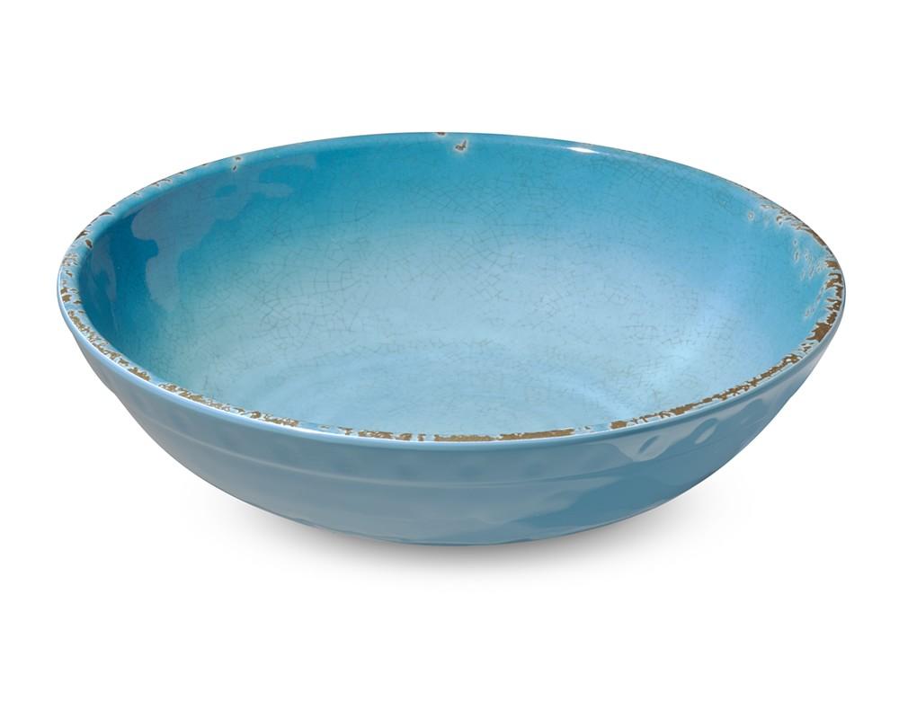 Rustic Melamine Individual Bowl, Turqouise