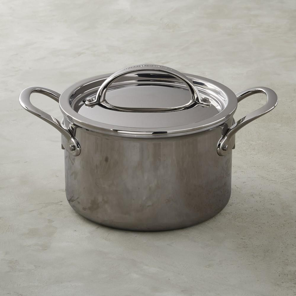 Williams Sonoma Thermo-Clad™ Stainless-Steel Soup Pot, 3.7 L