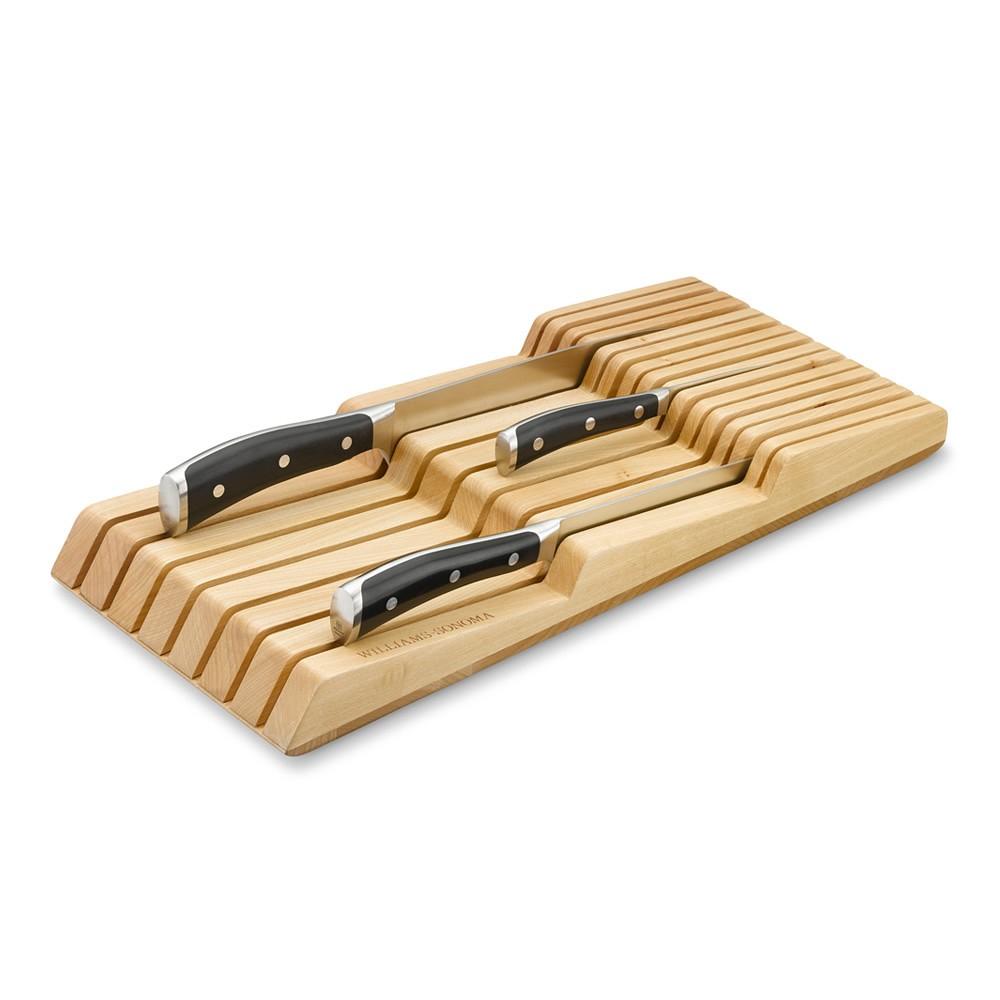 Williams Sonoma In-Drawer 15-Slot Knife Organizer, Maple