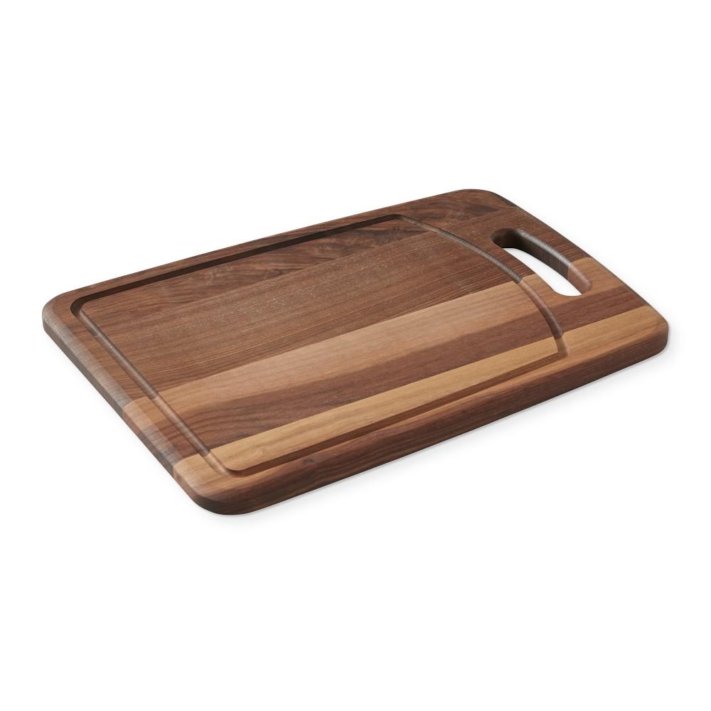 Williams Sonoma Walnut Handled Prep Cutting Board
