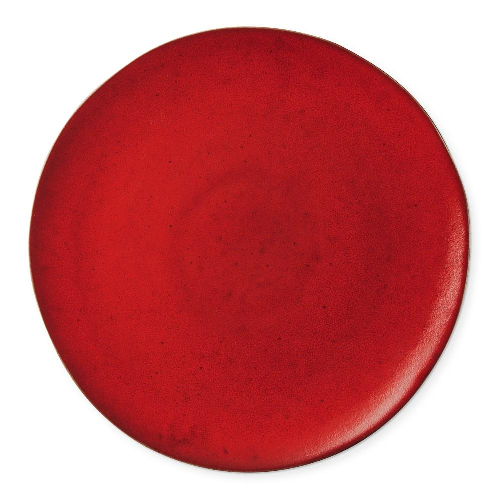 Reactive Glaze Charger Plate, Red
