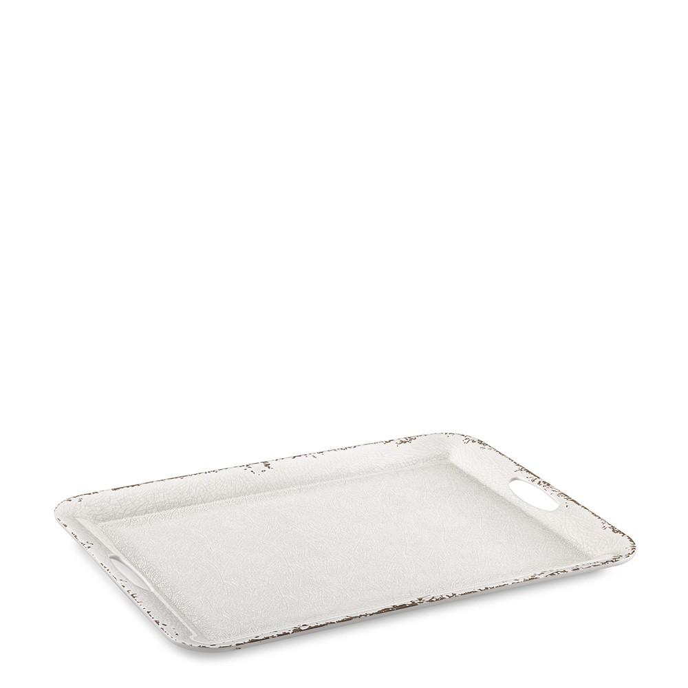 Rustic Outdoor Melamine Tray with Handles