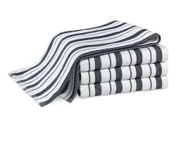 Williams Sonoma Striped Tea Towels, Set of 4, Navy