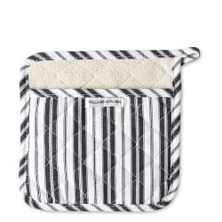 Williams Sonoma Stripe Potholder, Black