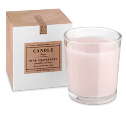 Williams Sonoma Essential Oils Boxed Candle, Pink Grapefruit