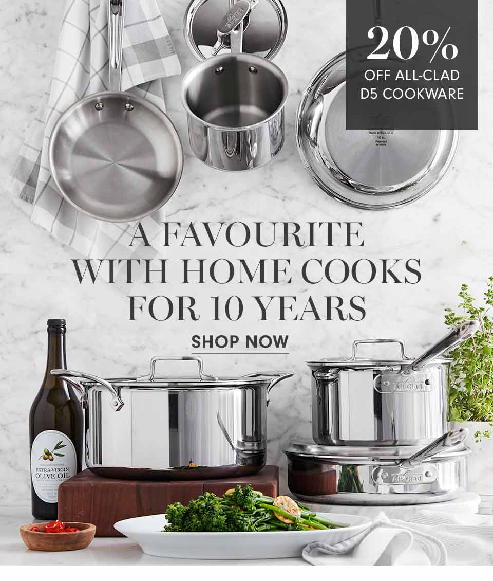 20% off All-Clad D5 Cookware