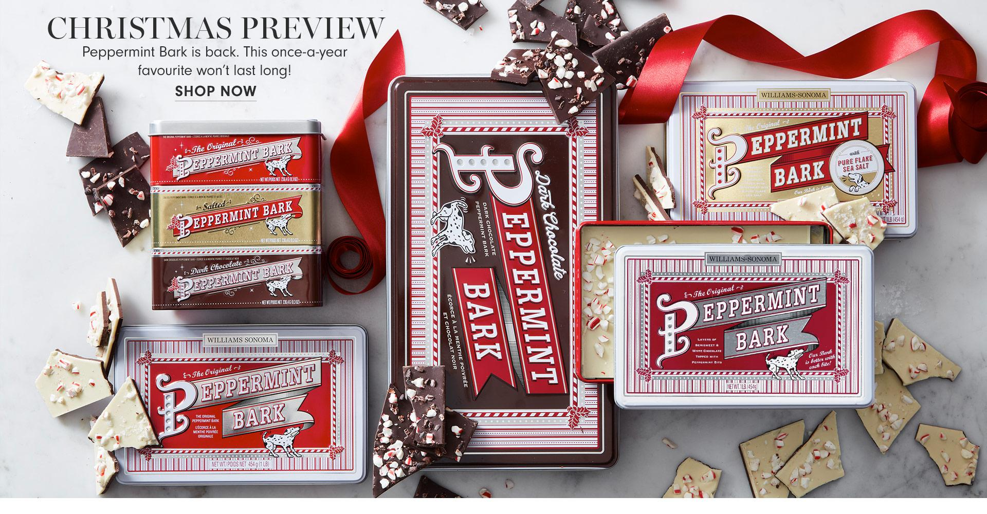 Christmas Preview | Peppermint Bark is back. This once-a-year favourite won't last long! | Shop Now