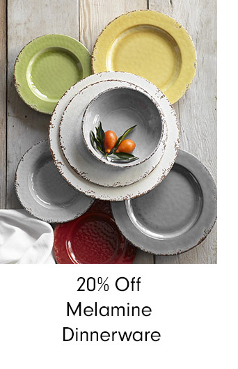 20% Off Melamine Dinnerware