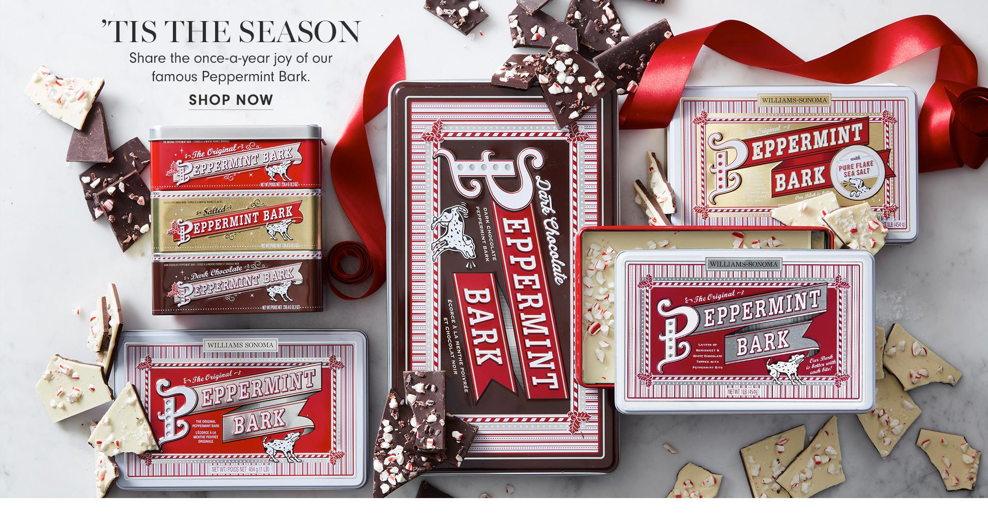 'Tis the Season | Share the once-a-year joy of our famous Peppermint Bark. | Shop Now
