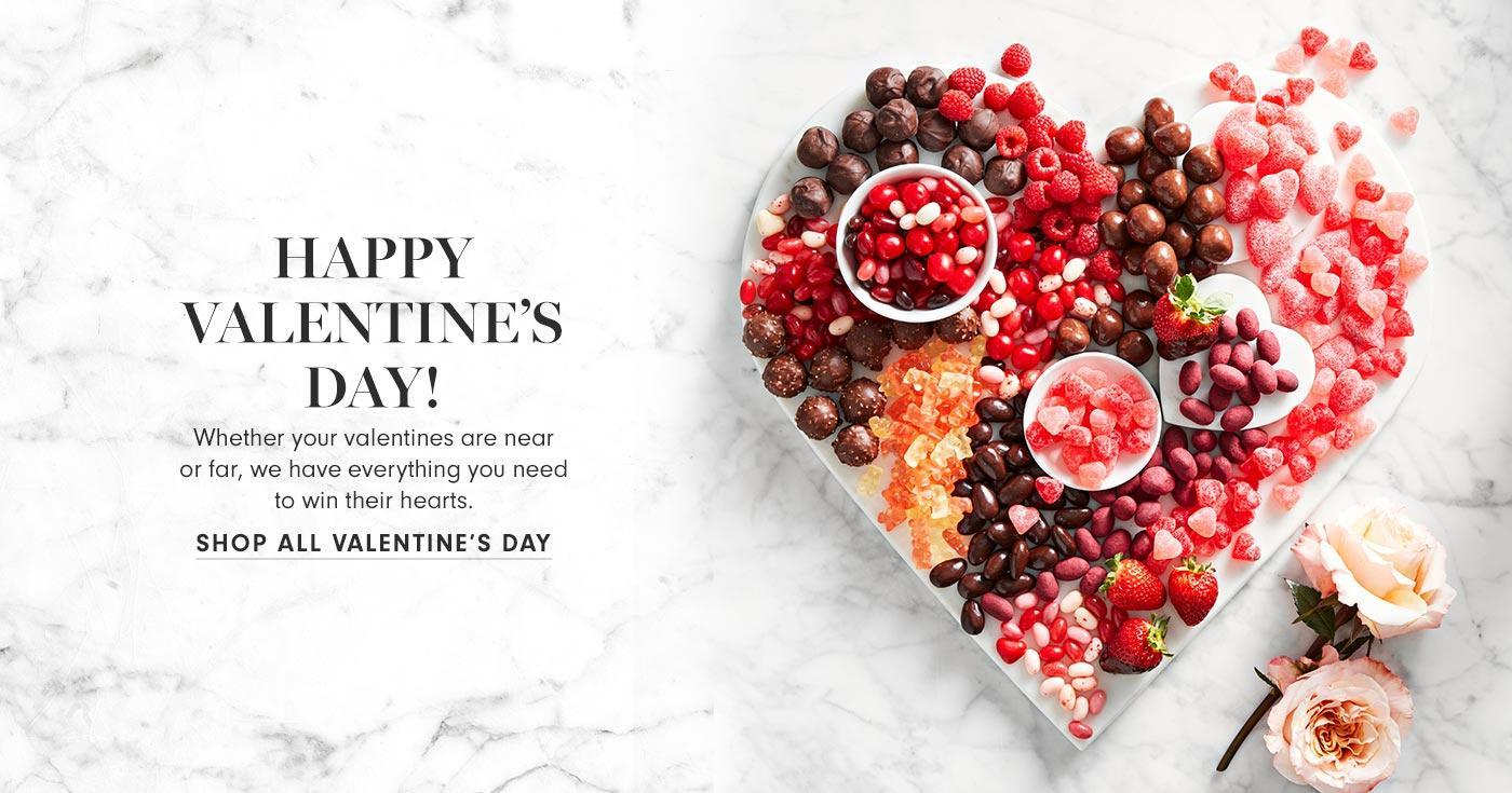 Happy Valentine's Day! | Whether your valentines are near or far, we have everything you need to win their hearts. | Shop All Valentine's Day