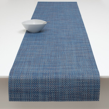 Chilewich Basketweave Denim Table Runner